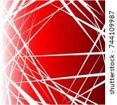 random lines abstract... | Shutterstock .eps vector #744109987
