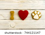 Small photo of I love and adore dogs. The dog is my friend. Composition on white background.