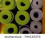 yoga mats | Shutterstock . vector #744135373