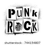 ''punk rock'' spray graffiti...