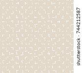 vector tie dye seamless pattern.... | Shutterstock .eps vector #744212587