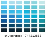 Blue Color Palette Vector...