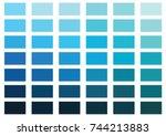 blue color palette vector... | Shutterstock .eps vector #744213883