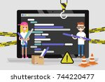 web development. site under... | Shutterstock .eps vector #744220477
