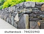 Retaining Wall Detail. Closeup...