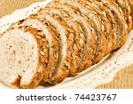 healthy whole wheat bread in... | Shutterstock . vector #74423767