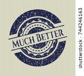 blue much better distressed... | Shutterstock .eps vector #744246163