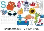 letter s. dot to dot...   Shutterstock .eps vector #744246703