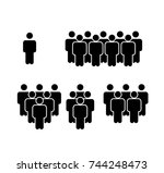 crowd icon | Shutterstock .eps vector #744248473
