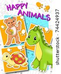 cover animals | Shutterstock . vector #74424937