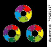circle infograph. five  six ... | Shutterstock .eps vector #744251617