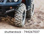 off road atv car closeup detail ...   Shutterstock . vector #744267037