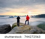 people just taking pictures  ... | Shutterstock . vector #744272563