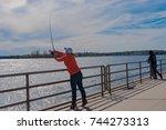 fisherman's cove  manasquan  nj ... | Shutterstock . vector #744273313