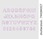 shabby alphabet | Shutterstock .eps vector #744284317