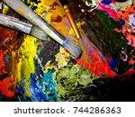 tools of an artist | Shutterstock . vector #744286363