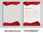 red brochure template | Shutterstock .eps vector #744288487