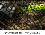 Mesh Fence Close Up Image With...