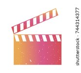 colorful clapperboard with...   Shutterstock .eps vector #744314377