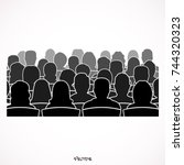 cinema. the audience watching a ... | Shutterstock .eps vector #744320323