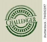 green challenger grunge seal | Shutterstock .eps vector #744342397