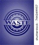 waste denim background | Shutterstock .eps vector #744349957