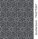 seamless linear pattern with... | Shutterstock .eps vector #744375367