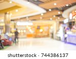 abstract blur image of people... | Shutterstock . vector #744386137