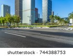 urban traffic road with... | Shutterstock . vector #744388753
