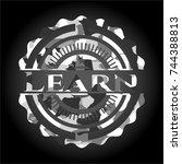 learn on grey camo pattern | Shutterstock .eps vector #744388813