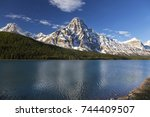 snowcapped mountain chephren... | Shutterstock . vector #744409507