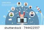customer retention  customer... | Shutterstock .eps vector #744422557