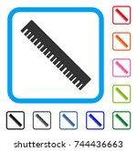 ruler icon. flat grey pictogram ...