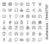 chat icon set. collection of... | Shutterstock .eps vector #744437707