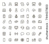 chat icon set. collection of... | Shutterstock .eps vector #744437803