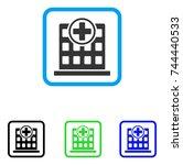 hospital building icon. flat...   Shutterstock .eps vector #744440533