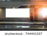 beauty  full blank advertising... | Shutterstock . vector #744441337