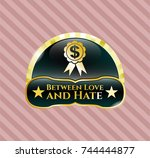 gold badge with business... | Shutterstock .eps vector #744444877