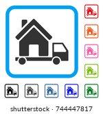 mobile house icon. flat gray...