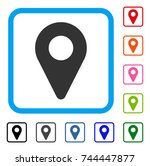map marker icon. flat grey...   Shutterstock .eps vector #744447877