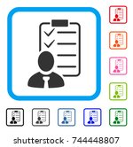 manager check list icon. flat...