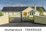 private property  a residential ... | Shutterstock . vector #744450103