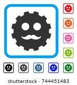 gentleman smiley gear icon....   Shutterstock .eps vector #744451483