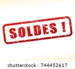 french translation for sale... | Shutterstock .eps vector #744452617