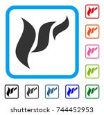 flora abstraction icon. flat... | Shutterstock .eps vector #744452953