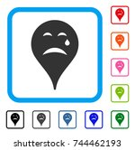 cry smiley map marker icon....