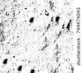 grunge black white. monochrome... | Shutterstock .eps vector #744474043