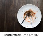 top view of an empty white...   Shutterstock . vector #744474787