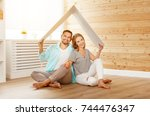 concept housing a young family. ... | Shutterstock . vector #744476347