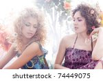 fashion shoot of young... | Shutterstock . vector #74449075